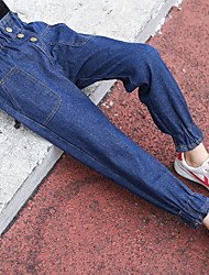 cheap -Girls' Solid Pants, Cotton Winter Active Blue