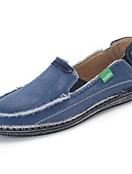 cheap -Men's Shoes Canvas Spring Fall Light Soles Loafers & Slip-Ons for Casual Black Dark Blue Gray Almond