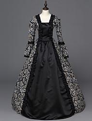 economico -Vittoriano Rococò Da donna Un Pezzo Vestiti Nero Cosplay Manica lunga Lungo