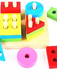 cheap -Building Blocks Toys Montessori Teaching Tool Educational Toy Toys Flat Shape Geometric School/Graduation School New Design Kids Pieces