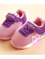 abordables -Chica Zapatos Tul Primavera / Otoño Confort Zapatillas de deporte Paseo Con Cordón para Negro / Gris / Rosa