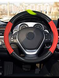 preiswerte -Lenkradbezüge Echtleder 38cm Schwarz / Rote For BMW 2 Serien / X4 / X6 Alle Jahre