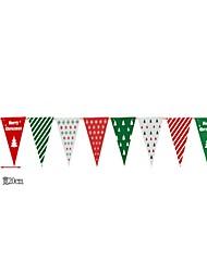 Недорогие -Рождественский декор Новогодние флажки Товары для Рождественской вечеринки Игрушки Костюмы Санта Клауса Elk Снеговик Флаг Праздник