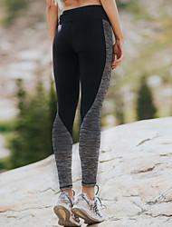 preiswerte -Damen Mittel Einfarbig Genähte Spitzen Einfarbig Legging