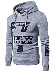 cheap -Men's Active Long Sleeve Hoodie - Letter, Print Hooded