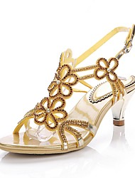 cheap -Women's Shoes Polyurethane Spring Summer Fashion Boots Sandals Open Toe Rhinestone Crystal Sparkling Glitter Buckle Chain for Dress Party