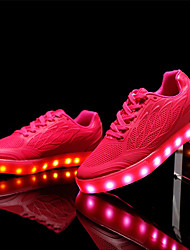 cheap -Women's Shoes TPU Fall Winter Light Up Shoes Comfort Sneakers LED For Casual Party & Evening Blushing Pink Green White