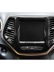 abordables -Automotor Cubiertas del centro de la pila Interiores personalizados para coche Para Jeep Todos los Años Cherokee Plástico