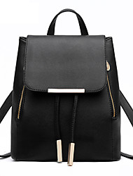 cheap -Women Bags PU Backpack Pockets for Casual Outdoor All Season Light Purple Black Grey Red black Sky Blue Red