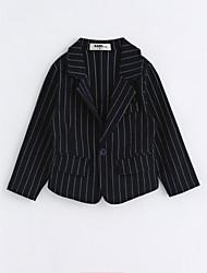 preiswerte -Jungen Anzug & Blazer Solide Baumwolle Langarm Marinenblau