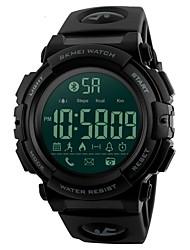 Недорогие -SKMEI Муж. Спортивные часы Наручные часы Японский Цифровой 50 m Защита от влаги Bluetooth Будильник PU Группа Цифровой Роскошь Черный - Черный Синий Один год Срок службы батареи / Календарь