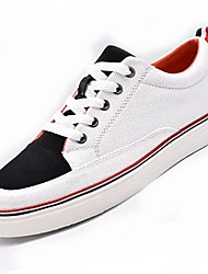 Women's Shoes PU Fabric Spring Fall Comfort Sneakers Round Toe For Casual Black/Red Red Black