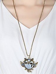 cheap -Men's / Women's Pendant Necklace - Rhinestone Owl Simple, Hip-Hop Necklace For Daily, Going out