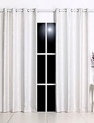 abordables -Corredizo Anillo Lazo de tela Doble plisado Ventana Tratamiento Formal Casual Modern , Jacquard Damasco Puntos Dormitorio Poliéster
