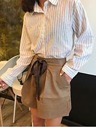 Feminino Simples Fofo Cintura Alta Sem Elasticidade Perna larga Shorts Baggy Calças,Perna larga Shorts Baggy Sólido