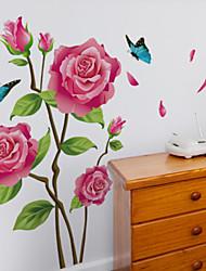 abordables -pegatinas de pared florales / botánicos pegatinas de pared plana decorativos pegatinas de pared, material de vinilo decoración del hogar