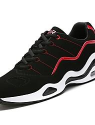 baratos -Homens sapatos Tecido Courino Materiais Customizados Inverno Outono Conforto Tênis Corrida Nulo / para Atlético Casual Branco/Preto