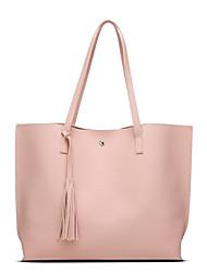 cheap -Women's Bags PU Shoulder Bag Zipper for Casual All Seasons Black Silver Blushing Pink Navy Blue Gray