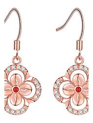 cheap -Women's Drop Earrings Rhinestone Fashion Elegant Rhinestone Rose Gold Plated Circle Flower Jewelry For Wedding Party