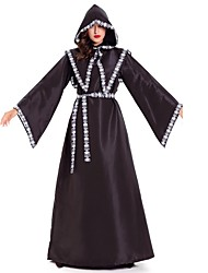 cheap -Witch Skeleton / Skull Grim Reaper Cosplay Costume Men's Women's Halloween Carnival Day of the Dead Oktoberfest Festival / Holiday