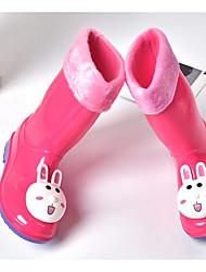 Para Meninas sapatos Pele PVC Primavera Outono Botas de Chuva Botas Para Casual Vermelho Azul Claro