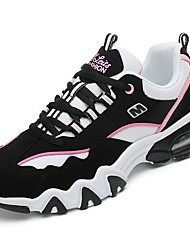 Women's Shoes PU Fall Winter Comfort Athletic Shoes Running Shoes Round Toe For Athletic Casual Black/Blue Black/Red Black/White Black