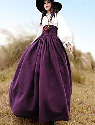 cheap -Women's Athleisure Long Length Skirts Skirt Polyester Solid Winter Fall