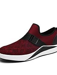 Pánské Obuv Tyl Jaro Podzim Pohodlné Atletické boty Chůze Pro Sportovní Černá Burgundská fialová
