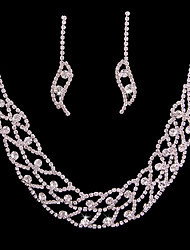 cheap -Women's Jewelry Set Bridal Jewelry Sets Classic Fashion Wedding Party Silver Plated 1 Necklace Earrings