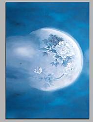 Недорогие -цветок в зеркале или луна в стене стены декор ручной росписи картин маслом современное стеновое искусство