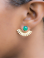 cheap -Women's Stud Earrings - Simple, Vintage Green / Blue For Party / Daily