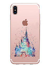 economico -Per iPhone X iPhone 8 Custodie cover Transparente Fantasia/disegno Custodia posteriore Custodia Cartoni animati Morbido TPU per Apple
