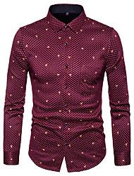 billige -Herre Trykt mønster Gade Skjorte