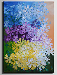 cheap -Oil Painting Hand Painted - Floral / Botanical Rustic Modern Canvas