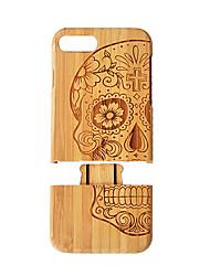Недорогие -Кейс для Назначение iPhone 7 Plus / Apple iPhone 8 Plus / iPhone 7 Plus Защита от удара Кейс на заднюю панель Имитация дерева Твердый