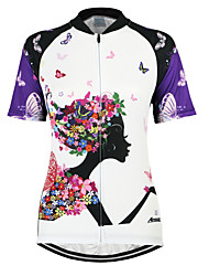 cheap -Arsuxeo Women's Short Sleeves Cycling Jersey Floral / Botanical Bike Jersey, Quick Dry, Anatomic Design, Breathable
