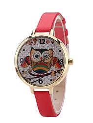 Mulheres Relógio de Moda Relógio Elegante Relógio de Pulso Chinês Quartzo PU Banda Casual Preta Branco Azul Vermelho Marrom Rosa Fúcsia
