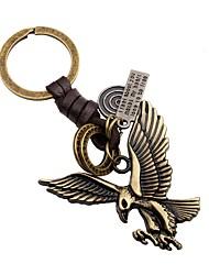 abordables -Porte-clés Bijoux Or Aigle Cuir Alliage Mignon Homme