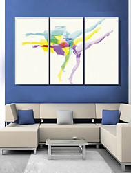 cheap -People Sports Illustration Wall Art,PVC Material With Frame For Home Decoration Frame Art Living Room Kitchen Dining Room Bedroom Office