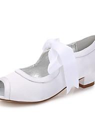 economico -Da ragazza Scarpe Raso Primavera Autunno Comoda Ballerina Cinturino alla caviglia Scarpe da cerimonia per bambine Tacchi Piccoli per
