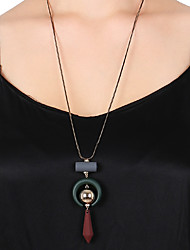 Недорогие -Муж. В форме свечи Классический Мода Ожерелья с подвесками Кулоны Шнур Акрил Ожерелья с подвесками Кулоны , Повседневные Для улицы