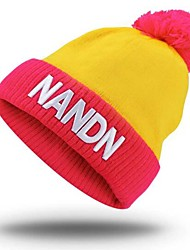 cheap -Ski Hat Ski Skull Cap Beanie Unisex Thermal / Warm Windproof Skiing Girlfriend Gift Snowboard Knit Letter & Number Snow Sports Winter
