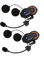 abordables -2 unids freedconn t-max sistema de charla grupo de la motocicleta 1500 m 6 jinetes bt teléfono intercomunicador casco auricular fm radio