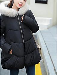 コート パッド入り レディース,お出かけ カジュアル/普段着 ソリッド ポリエステル ストリートファッション 長袖