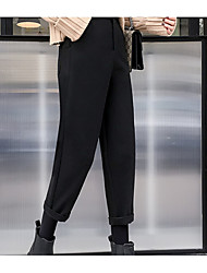 Women's High Rise Inelastic Skinny Business Pants,Vintage Casual Solid Polyester Winter Fall