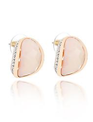economico -Per donna Orecchini a bottone Strass Opal sintetico Adorabile Di tendenza Cristallo Opale Lega Di forma geometrica Gioielli Per