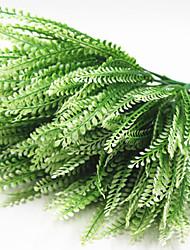 35cm 5 pcs 7 fourche / branche pteris vert herbe décoration fleurs artificielles