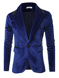 cheap -Men's Plus Size Blazer-Solid Colored / Please choose one size larger according to your normal size. / Long Sleeve