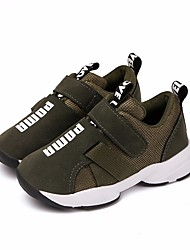 cheap -Boys' Shoes Leatherette Spring Fall Comfort Sneakers For Casual Army Green Gray Black
