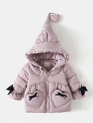 Girls' Solid Down & Cotton Padded